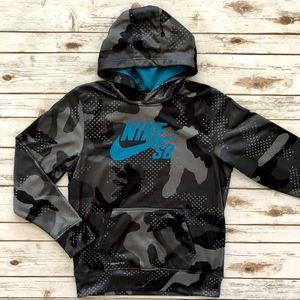 NIKE SB hoodie jacket digital camo Youth Boys XL